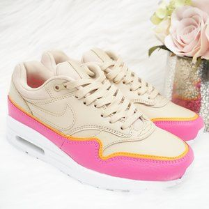 Nike Air Max 1 SE Running Trainer Sneaker Tan/Pink